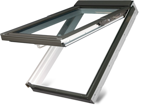 FAKRO Top Hung Window (White PVC | 550mm x 980mm) - Horizon Plastics Online