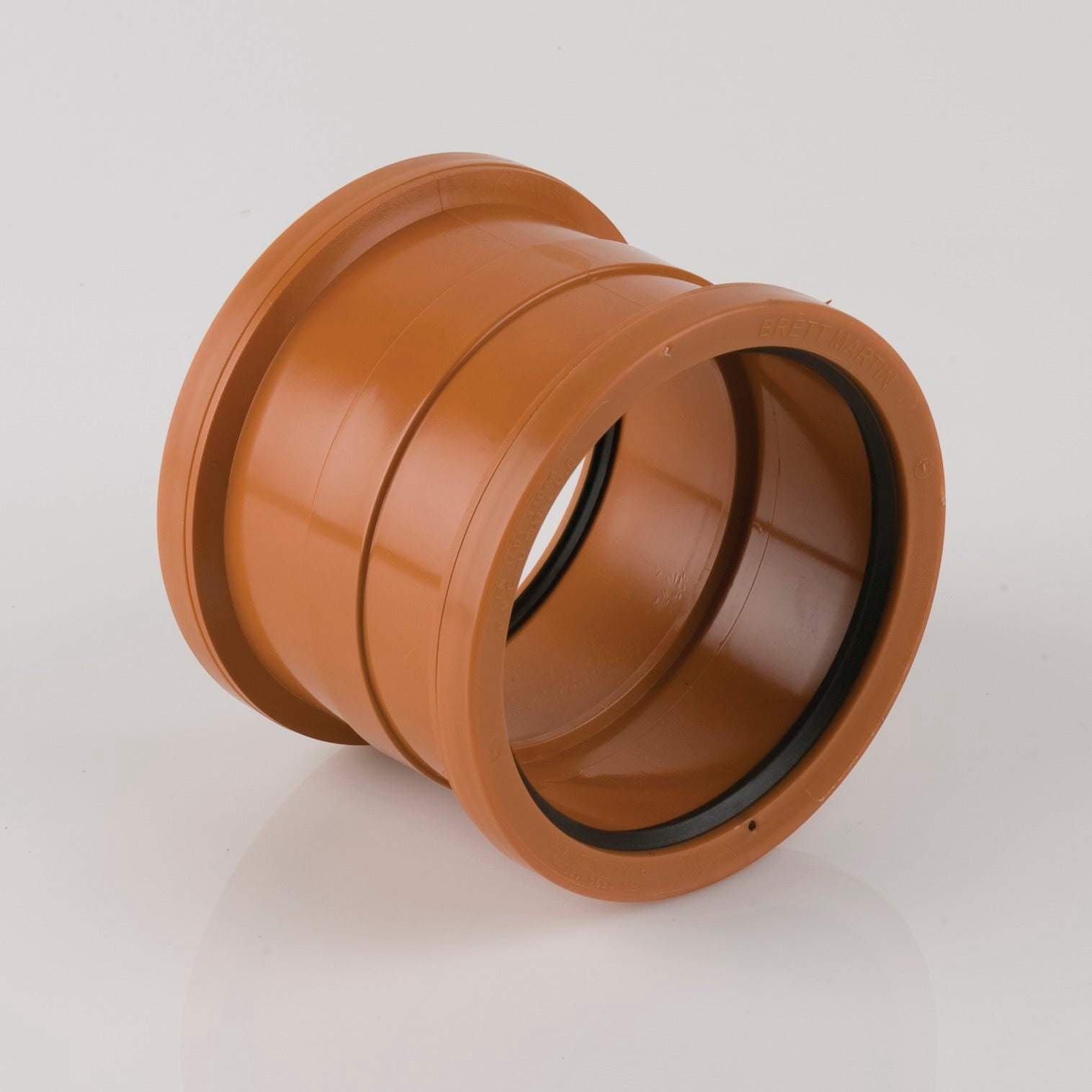 110mm Double Socket Drainage Pipe Connector (Terracotta Orange)