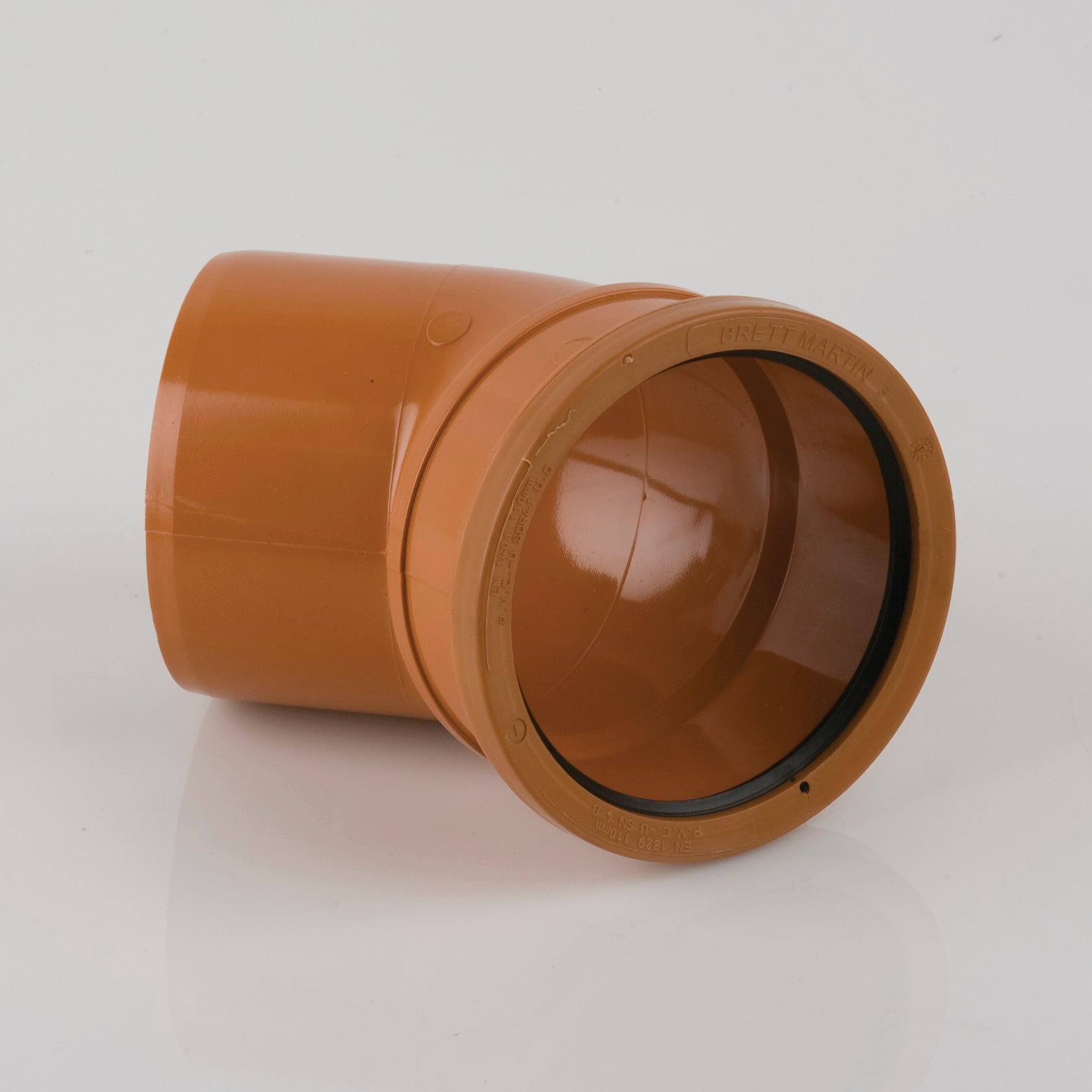 45 Degrees 110mm Single Socket Pipe Bend (Terracotta Orange)