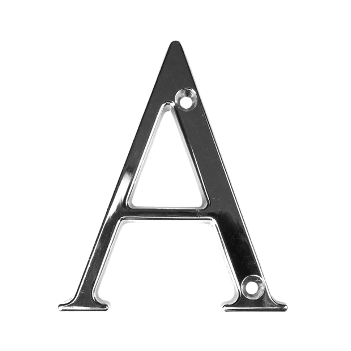 Fab & Fix Door Letter ('A' | Hardex Chrome)