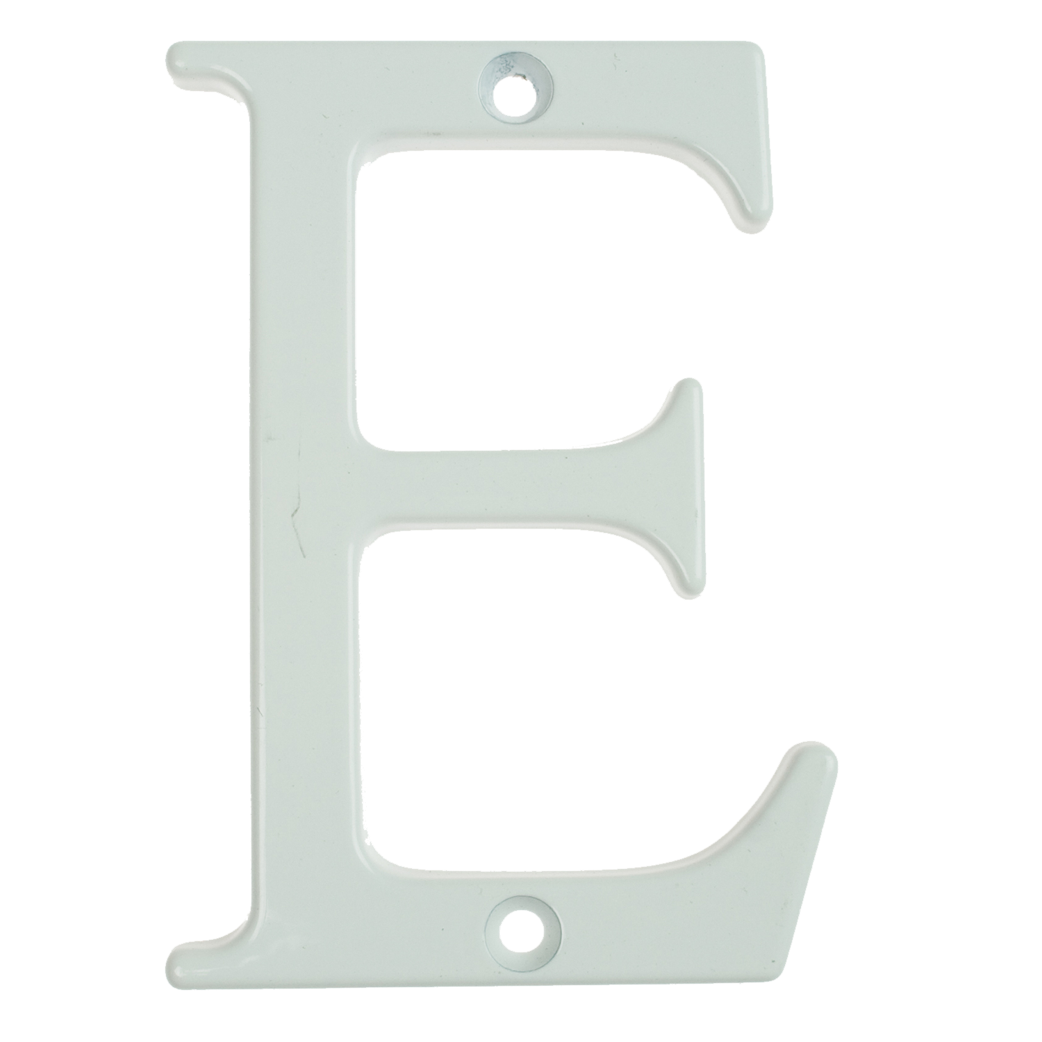 Fab & Fix Door Letter ('E' | White) - Horizon Plastics Online