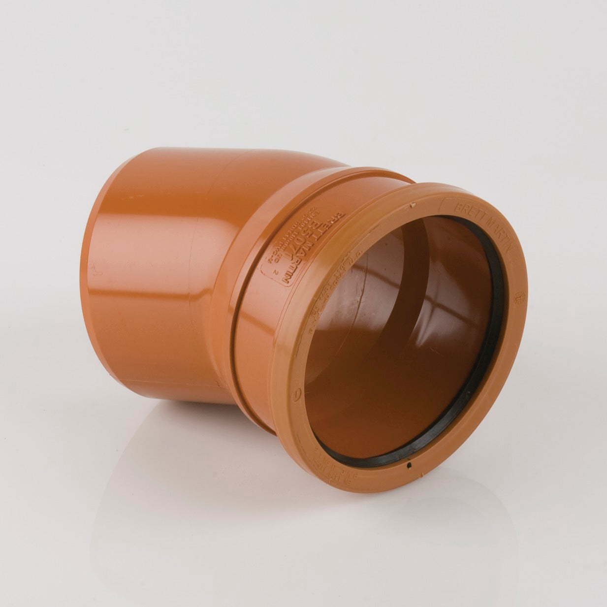 22.5 Degrees 110mm Single Socket Pipe Bend (Terracotta Orange)