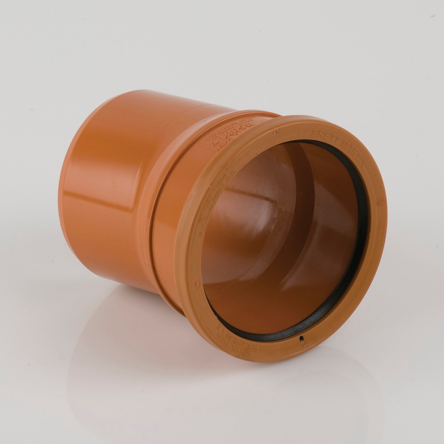 11.25 Degrees 110mm Single Socket Pipe Bend (Terracotta Orange)