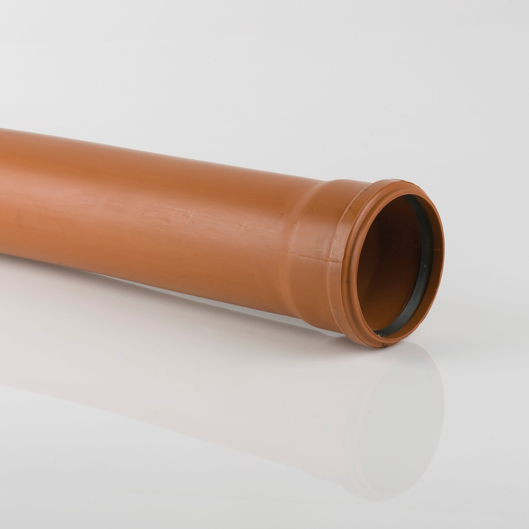 110mm Single Socket Drainage Pipe (6m | Terracotta Orange)