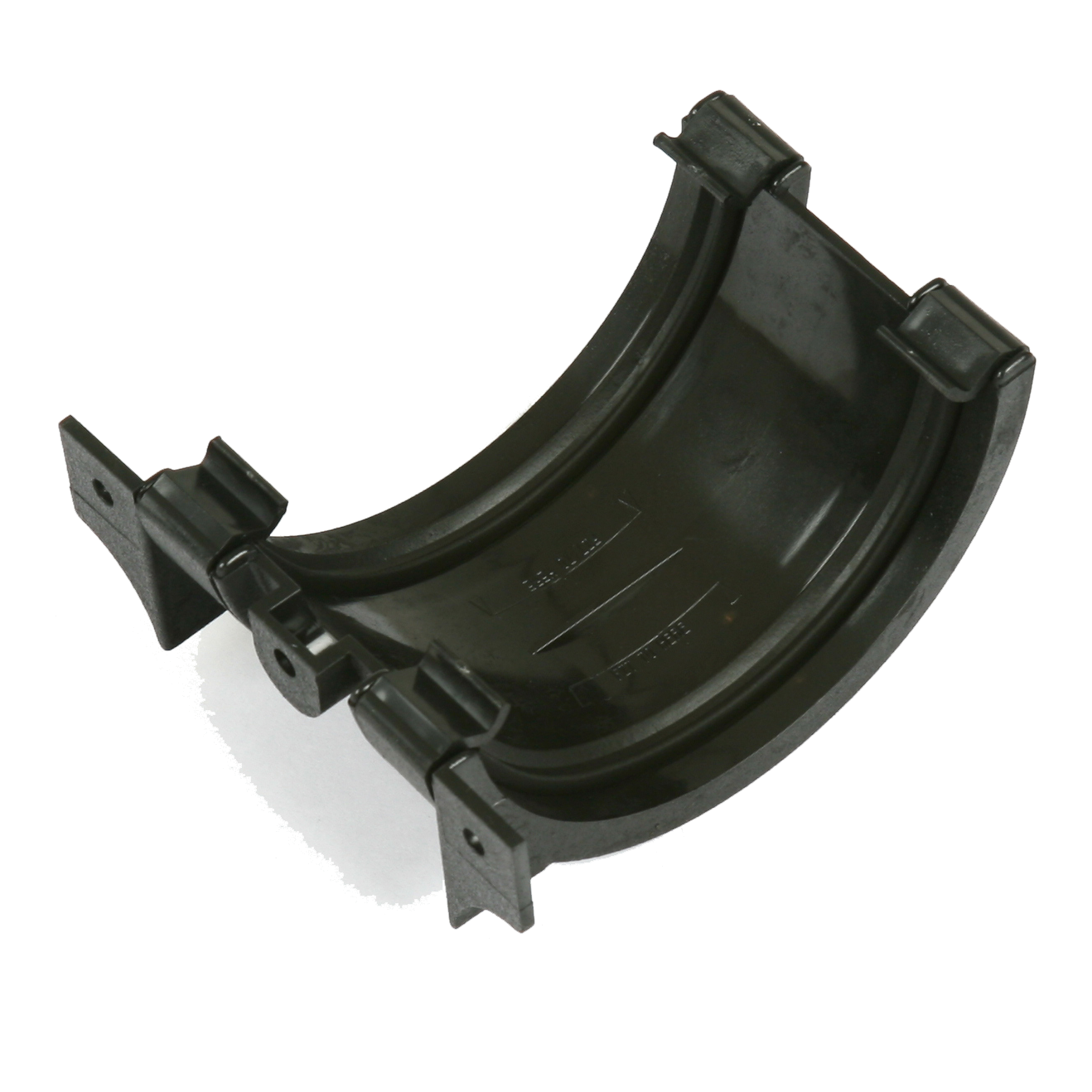Half Round Union Bracket (Cast Iron Effect) - Horizon Plastics Online