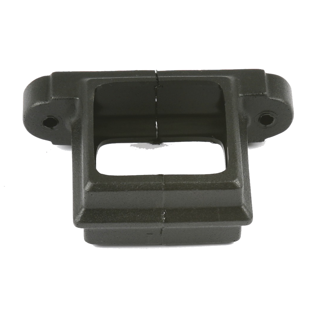 Square Downpipe Clip (Cast Iron Effect) - Horizon Plastics Online