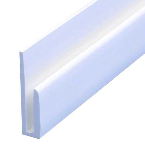 'J' Section (2.44m | White) - Horizon Plastics Online