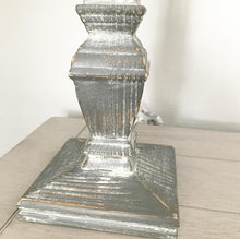 Load image into Gallery viewer, Grey Scratch Base Table Lamp With Linen Shade - www.proven-salle.com