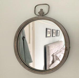 Oval Mirror - Grey