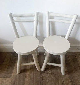 Pair of Children's Teak Chairs - Stony Ground
