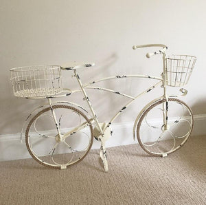 Metal Bicycle Planter