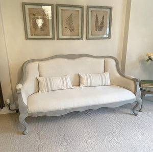 French Style 2-3 Seater - Taupe and Beige
