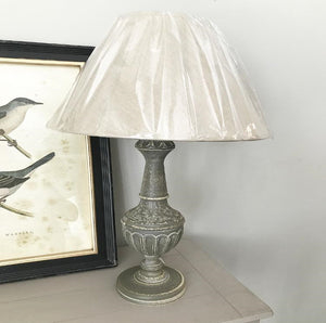 Ornate Table Lamp With Linen Shade - www.proven-salle.com