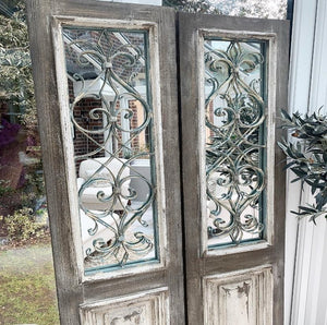 French Style Rustic Mirror Panel