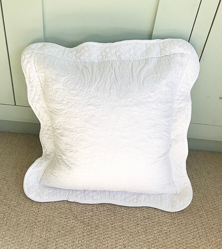 Clarice White Cushion 45 x 45cm (Includes Inner) - www.proven-salle.com