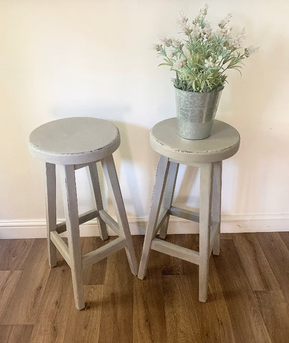 Pair of Stools - Taupe