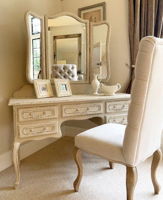 Dressing Table With Mirror - Country Grey - www.proven-salle.com