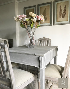 Elegant French Style Dining Table   Taupe