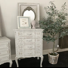 Load image into Gallery viewer, French Louis XV Style Oak Serpentine Chest of Drawers - Paris Grey