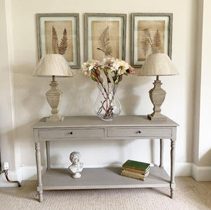 Two-Drawer Console Table - Light Taupe