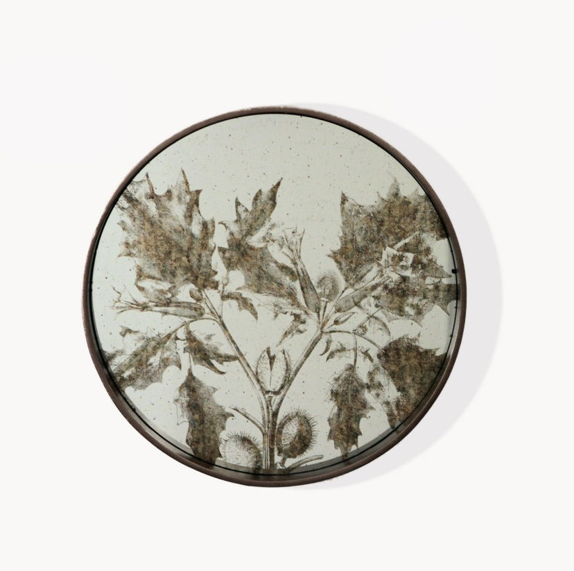 Botanical Round Mirror