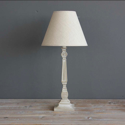 Natural Table Lamp With Linen Shade