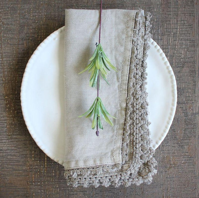 Set of 4 Linen Napkins - Taupe