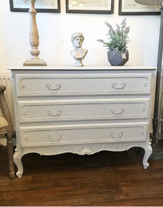 French Louis Style Chest of Drawers - Paris Grey