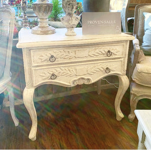 Two-Drawer Console Table / Chest - French Grey