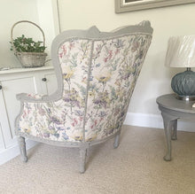 Load image into Gallery viewer, French Louis Style Wingback - Vintage Floral Fern