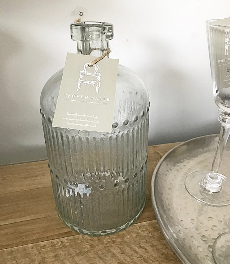 Ribbed Glass Bottle - www.proven-salle.com