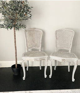 Pair of French Rattan Chairs - Paris Grey - www.proven-salle.com