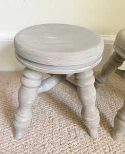 Pair of Milking Stools - Taupe