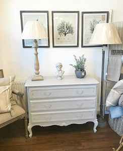 French Louis Style Chest of Drawers - Paris Grey - www.proven-salle.com