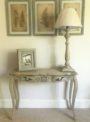 French Style Writing Desk / Console Table in Weathered Oak