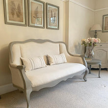 Load image into Gallery viewer, French Style 2-3 Seater - Taupe and Beige