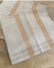 Load image into Gallery viewer, Vintage Grain Sack - Oatmeal Stripe (108 x 50cm)