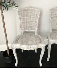 Load image into Gallery viewer, Pair of Louis Style Rattan Chairs - Paris Grey