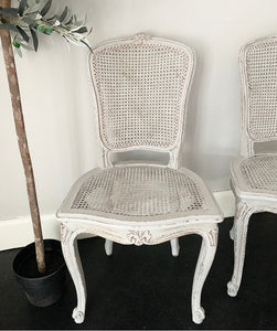 Pair of Louis Style Rattan Chairs - Paris Grey