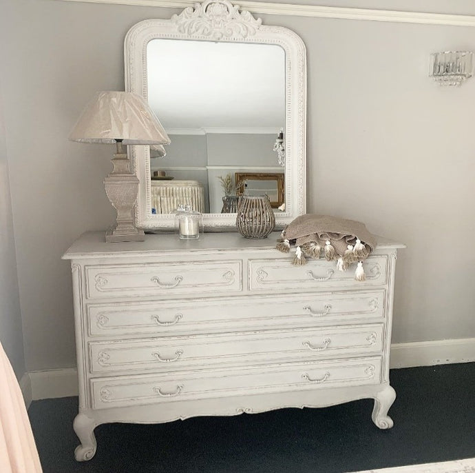 French Vintage Chest of Drawers - Paris Grey