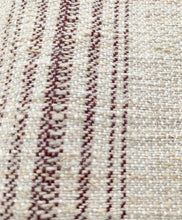 Load image into Gallery viewer, Vintage Grain Sack - Burgundy Stripe (130 x 53cm)
