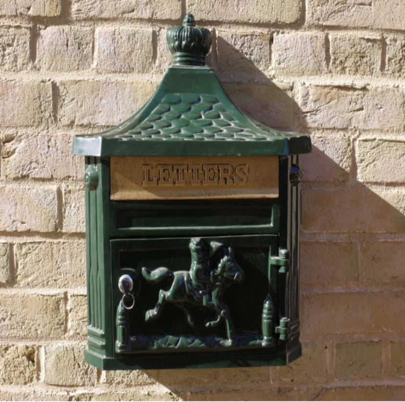 Wall Post Box - Green