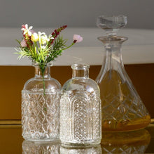 Load image into Gallery viewer, Pair of Glass Bottle Vases