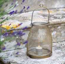 Load image into Gallery viewer, Mesh Honeycomb Lantern - Antique Brass