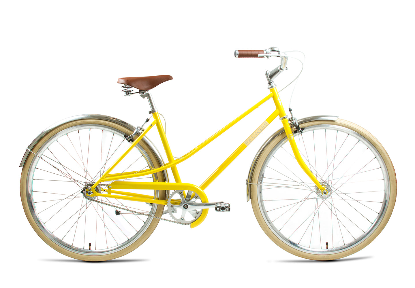 Ruedas Single Speed 700 C 36 agujeros negro amarillo