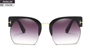 Semi-Rimless Sunglasses