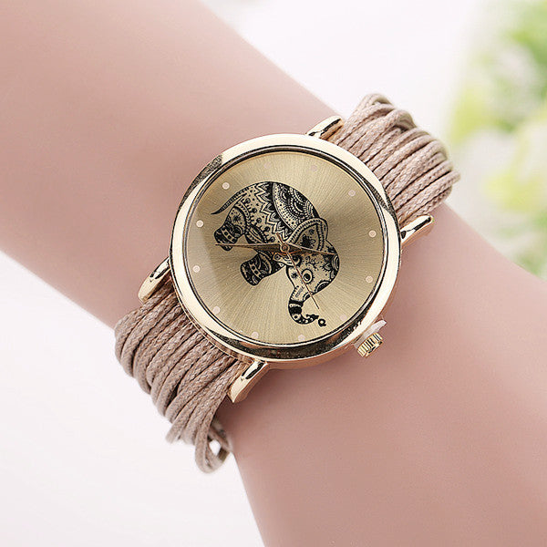 Leather Bracelet Casual Watch