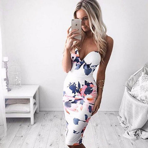 New Flower Print Summer Dress
