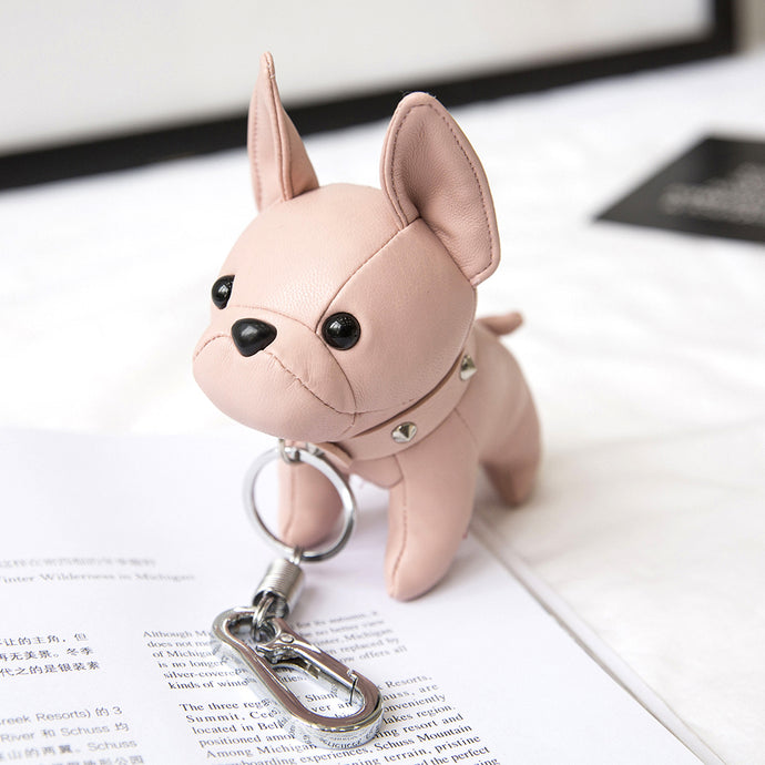 Bulldog Leather Keychain - BullyPaw