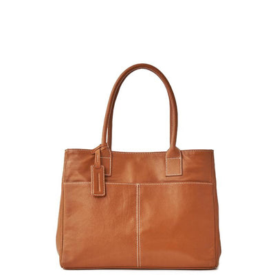 Leather A4 Box Tote - MOTHERHOUSE